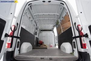 Furgon Movano w wersji L3H2 ma objętość 13 metrów sześciennych.