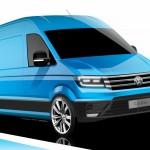Nowy Volkswagen Crafter na oficjalnych szkicach