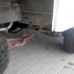 Mandat, zabrany dowód i laweta – VW LT w tragicznym stanie