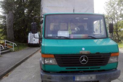 Mercedes Vario z zaniżonym DMC – na pusto wyszło 3 700 kg