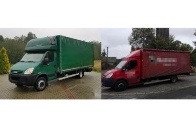To jest Iveco Daily 65 – jeden z nich to ciężarówka a drugi to bus