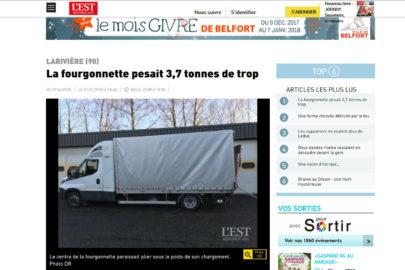 Kierowca Iveco Daily dostał 630 euro mandatu za przeciążenie busa