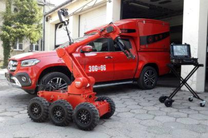 Mercedes X-klasa ze specjalistyczną zabudową dla Straży Pożarnej