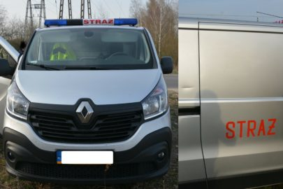 """""""Strażackie"""" Renault Trafic z kontrabandą papierosów bez akcyzy"""