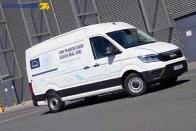 MAN eTGE – pierwsza jazda elektrycznym furgonem z Wrześni