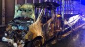 Renault Master doszczętnie spłonęło na obwodnicy Bielska-Białej