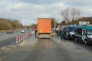 Wagę zamontowano w zatoce znajdującej się na ulicy Armii Krajowej przy wyjeździe z Bydgoszczy.