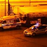 Pijany jeździł ambulansem po Starym Rynku w Bydgoszczy