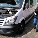 Policyjny pościg za skradzionym Mercedesem Sprinterem