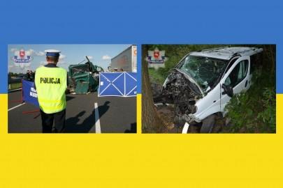 Wypadki ukraińskich busów na Lubelszczyźnie. Zginęło sześć osób