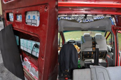 9cb70f11e24f1 Volkswagen LT wypchany kontrabandą papierosów