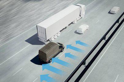 Ford Transit i Transit Custom z systemem Side Wind Stabilization