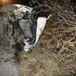 Peugeot Boxer wjechał w drzewo – kierowca miał 3 promile