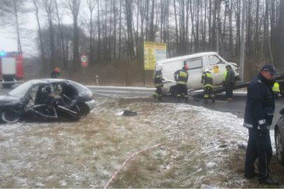Kuciny: 11 rannych po zderzeniu Lublina i Daewoo Lanosa
