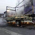 Pożar busa przy obwodnicy Wrocławia – kierowcy nic się nie stało