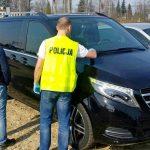 Luksusowy Mercedes V-klasa odnalazł się w Medyce