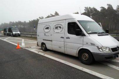 Mercedes Sprinter miał 2800 kg DMC – wiózł 2185 kg złomu