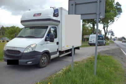 Iveco Daily zatrzymane przez ITD Szczecin ważyło 7,2 tony