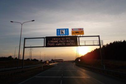 Następne 360 km płatnych dróg w Polsce od 9 lipca 2017 (MAPA)