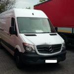 Uszkodzona stacyjka i zagłuszacz GPS – Mercedes Sprinter odzyskany