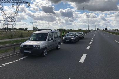 169 km/h Fiatem Doblò po S7 – kierowca nie miał uprawnień