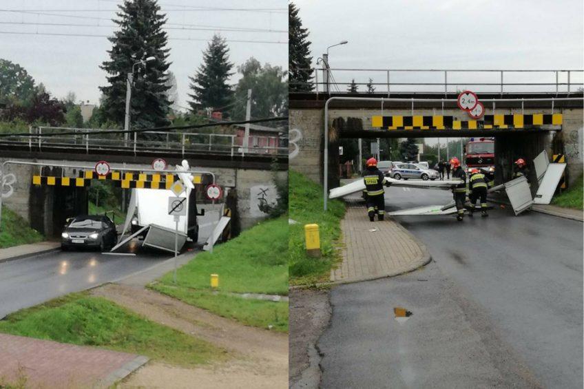 Kolejna ofiara wiaduktu w Tychach – tym razem to Iveco Daily