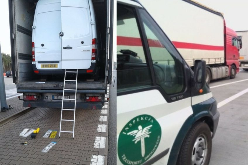 Dwa skradzione w Anglii busy przewożono litewską ciężarówką