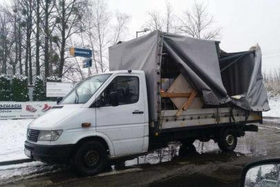 Mercedes Sprinter kontra sławny wiadukt w Tychach