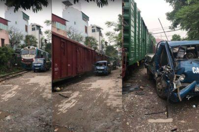 Nigdy nie parkuj dostawczaka zbyt blisko torów kolejowych (wideo)