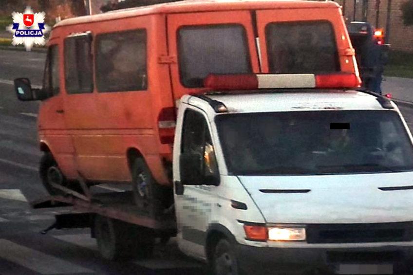 Pożyczoną autolawetą wywieźli skradzionego Sprintera na złom
