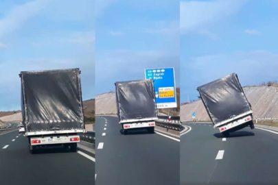 Polski bus jedzie na dwóch kołach – nagranie z Chorwacji (wideo)