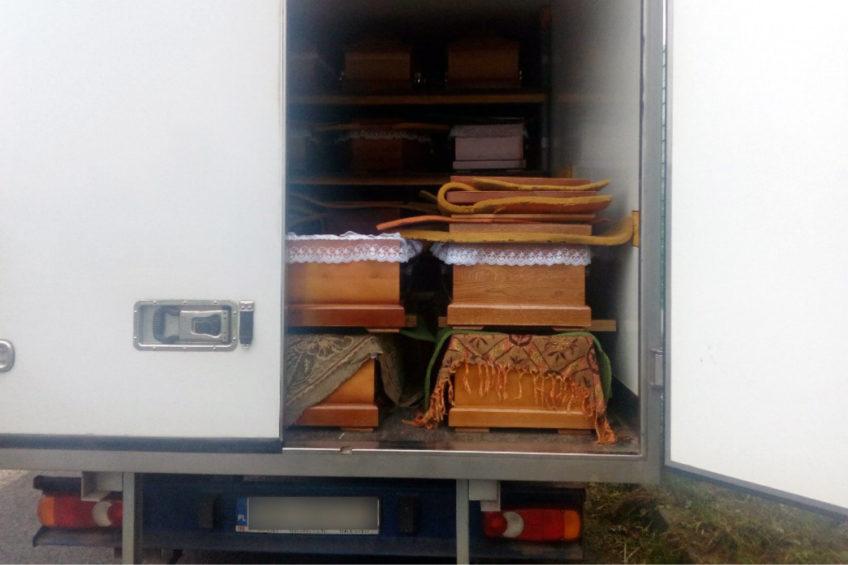 Przeładowany trumnami Fiat Ducato złapany przez ITD Lublin