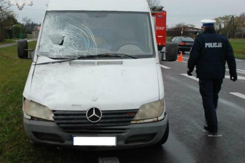 Radzyń Podlaski – Mercedes Sprinter śmiertelnie potrącił pieszego