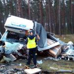 Wypadek na DK 10 pod Bydgoszczą – nie żyje kierowca Fiata Ducato