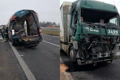 Kierowca Sprintera i osobówki pokłócili się przez CB radio – obaj zginęli