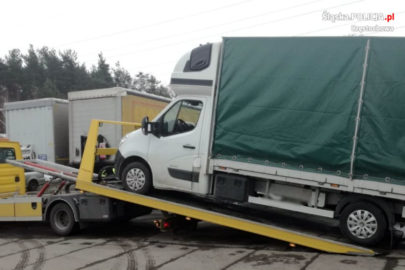 Wypożyczył Renault Master a potem zarejestrował je w Warszawie