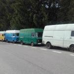 10 ton ważył sam ładunek – ukraińskie VW LT nie dojechały na wagę
