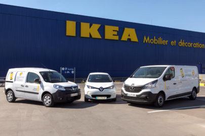 Dostawcze Renault pod sklepami IKEA – wypożyczalnia na smartfona
