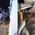 Iveco Daily wjechało w dom – kierowca i pasażer mieli po 2 promile