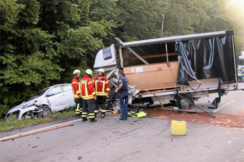 Wypadek na niemieckiej B12 – nie żyje kierowca polskiego Fiata Ducato