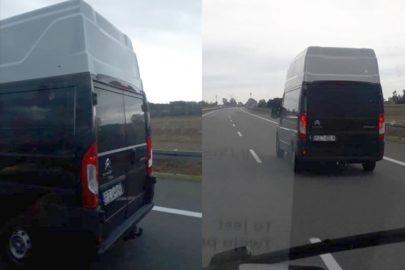 Mocno podwyższony Jumper na autostradzie A2 – zdjęcia od Marcela