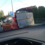 No i po co komu Ducato? Betonowy krąg przewożony Fiatem Punto