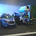 Pijany busiarz jechał pod prąd na włoskiej A36 – uderzył w radiowóz