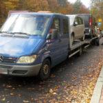 Sprinter z lawetą przeładowany a kierowca bez licencji – 18 000 zł kary