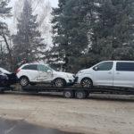Prawie się udało! Polski Ford Transit z lawetą zatrzymany na A15