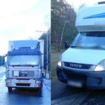Przeciążone i dymiące Iveco Daily zatrzymane w Pile przez ITD