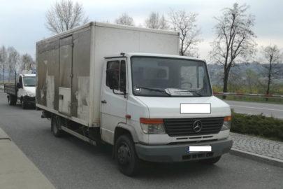 Mercedes Vario zarejestrowany na 3500 kg – na wagach 8100 kg
