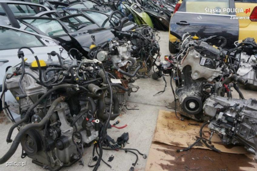 Odzyskali silniki i skrzynie biegów ze skradzionych dostawczaków
