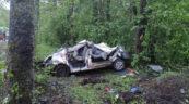 Nissan Primastar dachował na DK 62 – 4 osoby nie żyją