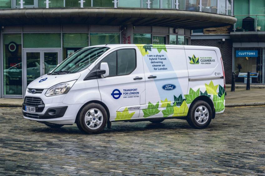 Ford Transit Custom PHEV – wyniki z testu 20 hybryd w Londynie